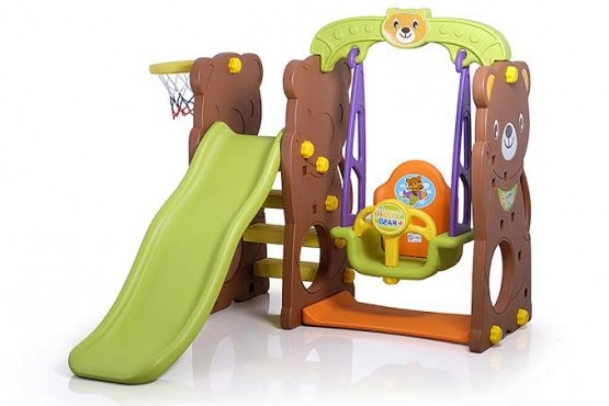 Bear Slide And Swing Brown