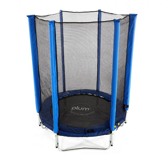 Plum Junior Trampoline and Enclosure 4.5ft (Blue)