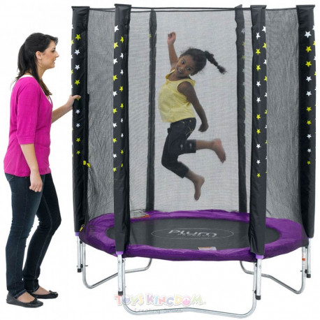 Plum® Stardust Junior Trampoline and Enclosure – 4.5ft